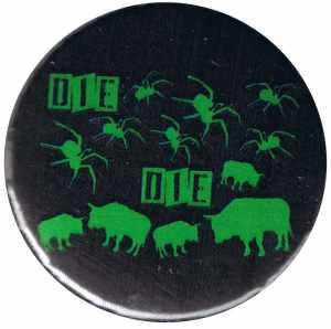 50mm Magnet-Button: Die spinnen die Bullen