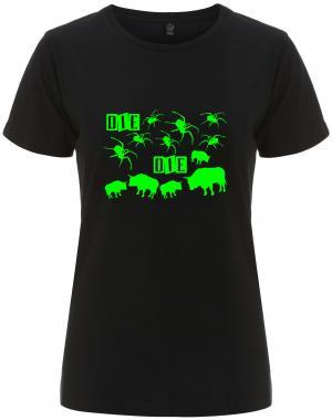 tailliertes Fairtrade T-Shirt: Die Spinnen Die Bullen (grün)