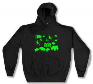 Kapuzen-Pullover: Die Spinnen Die Bullen (grün)