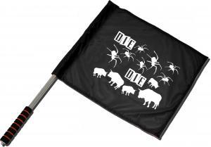 Fahne / Flagge (ca 40x35cm): Die spinnen die Bullen
