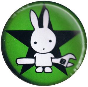 37mm Button: Direct Action Hase - Stern (grün)