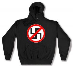 Kapuzen-Pullover: Durchgestrichenes Hakenkreuz