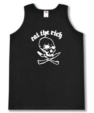 Tanktop: Eat the rich (Totenkopf)