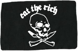 Aufnäher: Eat the rich (Totenkopf)