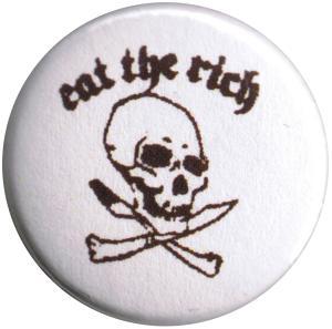 25mm Button: Eat the rich (Totenkopf)