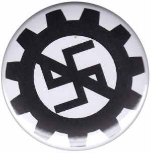 25mm Button: EBM gegen Nazis
