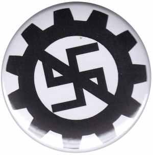 37mm Button: EBM gegen Nazis