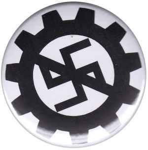 50mm Button: EBM gegen Nazis