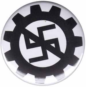 50mm Magnet-Button: EBM gegen Nazis