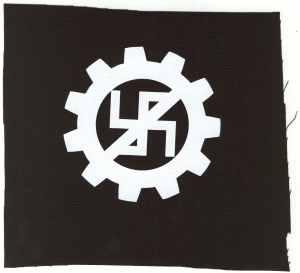Aufnäher: EBM gegen Nazis