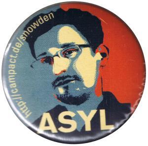 50mm Button: Edward Snowden ASYL