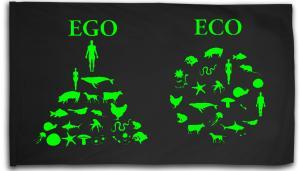 Fahne / Flagge (ca. 150x100cm): Ego - Eco