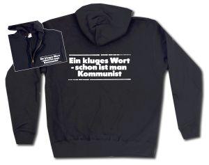 Kapuzen-Jacke: Ein kluges Wort - schon ist man Kommunist