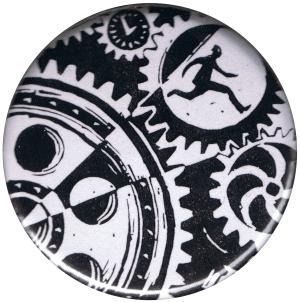 37mm Button: Eric Drooker: Zahnräder