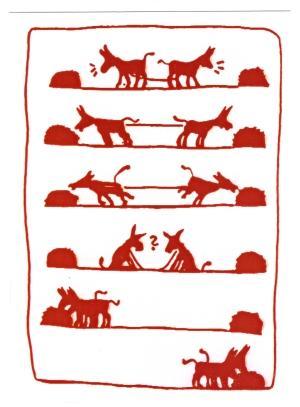 Postkarte: Esel