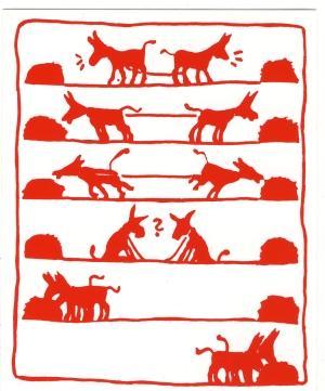 Aufkleber: Esel