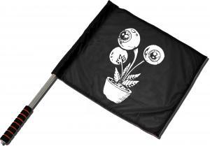 Fahne / Flagge (ca. 40x35cm): Eyeflower