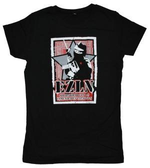 Girlie-Shirt: EZLN Solidaridad con las Comunidades Zapatistas