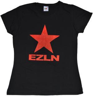 tailliertes T-Shirt: EZLN Stern