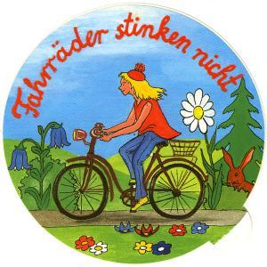 Aufkleber: Fahrräder stinken nicht