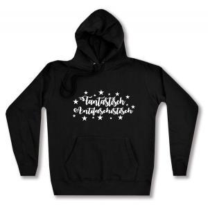 taillierter Kapuzen-Pullover: Fantastisch Antifaschistisch (weiß)