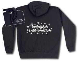 Kapuzen-Jacke: Fantastisch Antifaschistisch (weiß)