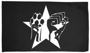 Fahne / Flagge (ca. 150x100cm): Faust und Pfote - Stern