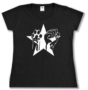 tailliertes T-Shirt: Faust und Pfote - Stern