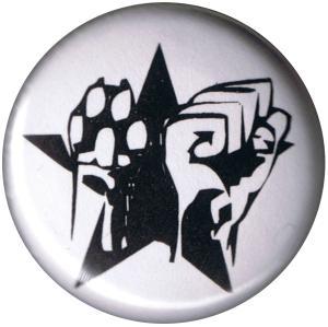 50mm Magnet-Button: Faust und Pfote - Stern