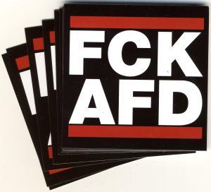 Aufkleber-Paket: FCK AFD (74/74mm)