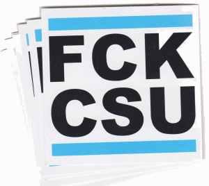 Aufkleber-Paket: FCK CSU