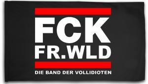 Fahne / Flagge (ca. 150x100cm): FCK FR.WLD