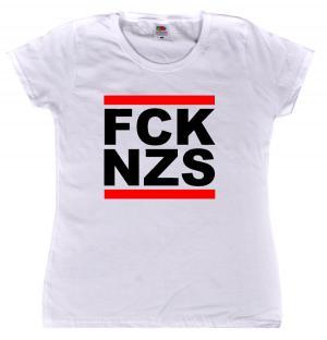 tailliertes T-Shirt: FCK NZS