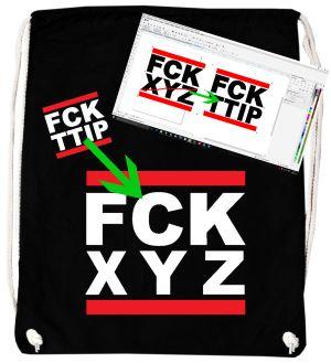 Sportbeutel: FCK XYZ