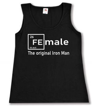 tailliertes Tanktop: Female - weiß