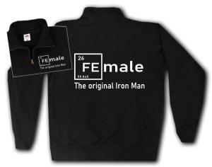 Sweat-Jacket: Female - weiß