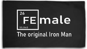 Fahne / Flagge (ca. 150x100cm): Female - weiß