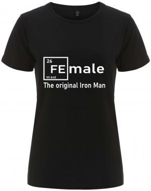 tailliertes Fairtrade T-Shirt: Female - weiß