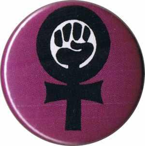 37mm Magnet-Button: Feminist