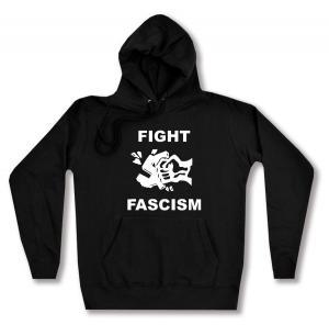 taillierter Kapuzen-Pullover: Fight Fascism