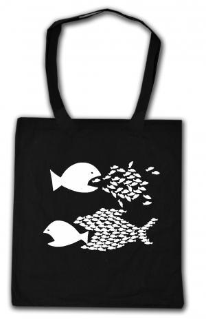 Baumwoll-Tragetasche: Fische