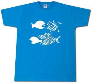 T-Shirt: Fische (blau)