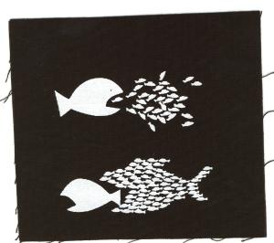 Aufnäher: Fische