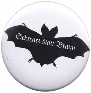 37mm Magnet-Button: Fledermaus - schwarz statt braun
