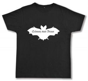Fairtrade T-Shirt: Fledermaus - schwarz statt braun
