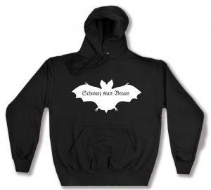 Kapuzen-Pullover: Fledermaus - schwarz statt braun