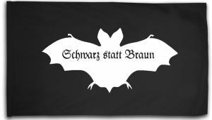 Fahne / Flagge (ca. 150x100cm): Fledermaus - schwarz statt braun