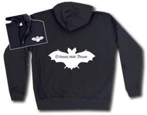 Kapuzen-Jacke: Fledermaus - schwarz statt braun