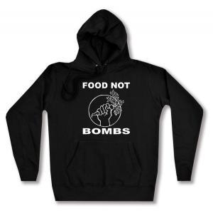 taillierter Kapuzen-Pullover: Food Not Bombs