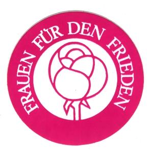 Aufkleber: Frauen für den Frieden (pink)